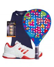 PACK AGATHA HEAVEN AND ADIDAS BARRICADE PADEL SHOES