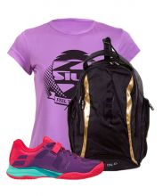 PACK BABOLAT PROPULSE WOMEN VIOLET AND SIUX DIABLO GOLD BACKPACK