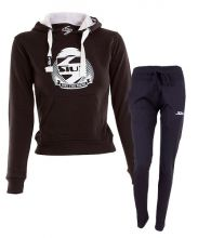 OUTFIT SIUX BELICE BLACK WOMEN SWEATSHIRT AND BANDIT NAVY BLUE SWEATPANTS