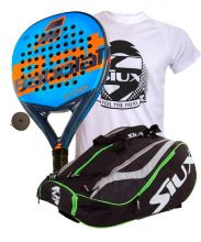 PACK BABOLAT STORM AND SIUX MASTERCOMBI GREEN PADEL RACKET BAG