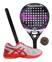 PACK SIUX OPTIMUS PRO FUCHSIA AND ASICS GEL PADEL PRO 3 SG PADEL SHOES