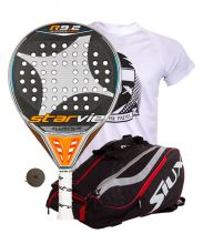 PACK STAR VIE R 9.2 DRS AND SIUX MASTERCOMBI RED PADEL RACKET BAG
