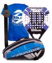 PACK WILSON FORCE LITE PADDLE RKT AND WINGPADEL PADEL RACKET BAG
