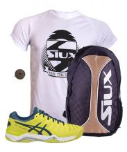 PACK ASICS GEL CHALLENGER 11 CLAY AND SIUX YELLOW BACKPACK