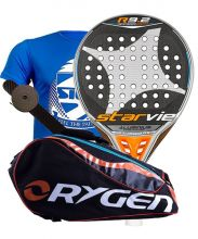 PACK STAR VIE R9.2 DRS CARBON ALUMINIUM SOFT 2018 AND ORYGEN BEGINNING PADEL RACKET BAG