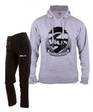 SIUX OUTFIT PREMIUM GREY SWEATSHIRT AND BANDIT BLACK SWEATPANTS