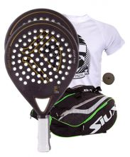 PACK 2 KAITT CALIBRE PADEL RACKETS AND SIUX MASTERCOMBI GREEN PADEL RACKET BAG
