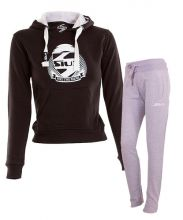 OUTFIT SIUX BELICE BLACK WOMEN SWEATSHIRT AND BANDIT GREY SWEATPANTS