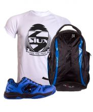 PACK KELME K SPIKE BLUE PADEL SHOES AND SIUX DIABLO BLUE BACKPACK