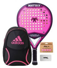 PACK WOMAN PADEL SESSION MATRIX 4 AND BACKPACK ADIDAS CLUB