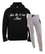 SIUX OUTFIT CLASSIC BLACK SWEATSHIRT AND DIABLO GREY SWEATPANTS