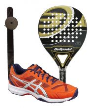 PACK BULLPADEL GOLD EDITION Y ASICS GEL PADEL E515Q 0601