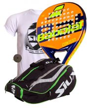 PACK BABOLAT CONTEST AND SIUX MASTERCOMBI GREEN PADEL RACKET BAG