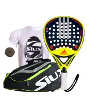 PACK ADIDAS ADIPOWER ATTK 1.7 AND SIUX YELLOW PADEL RACKET BAG