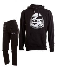 SIUX OUTFIT PREMIUM BLACK SWEATSHIRT AND BANDIT BLACK SWEATPANTS