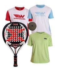 PACK NOX STINGER 2.1 LEGEND UND 3 WINGPADEL T-SHIRTS