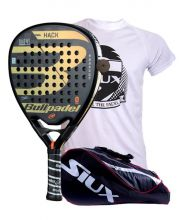 PACK BULLPADEL HACK AND SIUX MASTERCOMBI RED PADEL RACKET BAG