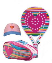 PACK AGATHA HEART RELIEF, HEART RELIEF PADEL RACKET BAG AND HEART CAP