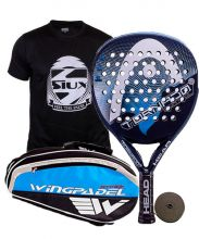 PACK HEAD GRAPHENE TORNADO CONTROL LTD BLUE AND WINGPADEL PADEL RACKET BAG