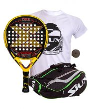 PACK NOX MAGMA MATTE AND SIUX MASTERCOMBI GREEN PADEL RACKET BAG