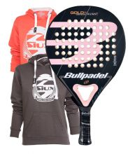 PACK GOLD BULLPADEL RACKET WOMAN 3.0 AND SWEATSHIRT SIUX BELICE