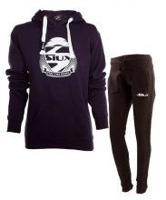SIUX WOMEN OUTFIT NAVY SWEATSHIRT AND BLACK SWEATPANTS