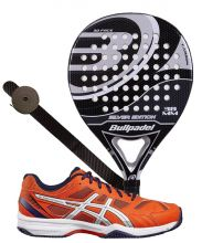 PACK BULLPADEL SILVER EDITION AND ASICS GEL EXCLUSIVE PADEL SHOES