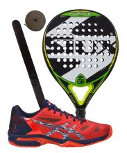 PACK SIUX FURTIVE PRO AND ASICS GEL LIMA PADEL DIVA PADEL SHOES
