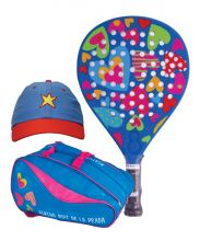 PACK AGATHA HEAVEN, RAINBOW PADEL RACKET BAG AND STAR CAP