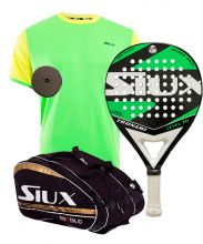PACK SIUX TSUNAMI GREEN AND SIUX DIABLO PADEL RACKET BAG