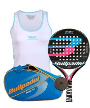 PACK BULLPADEL K3 WOMAN PALETERO BULLPADEL CAMISETA WINGPADEL