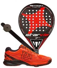 PACK STAR VIE METHEORA CARBON PRO 2017 Y ZAPATILLAS WILSON KAOS