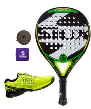 PACK SIUX FURTIVE PRO Y ZAPATILLAS WILSON KAOS SAFETY AMARILLO