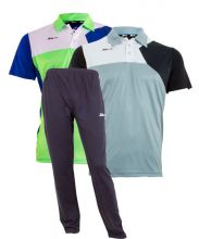 PACK SIUX NAVY BLUE SWEATPANTS AND POLO SHIRTS