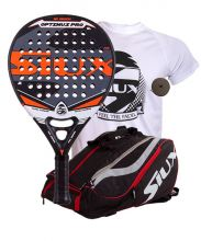PACK SIUX OPTIMUS PRO AND SIUX MASTERCOMBI RED PADEL RACKET BAG