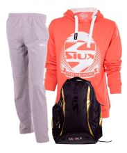 PACK SIUX DIABLO GOLD BACKPACK, SWEATPANTS AND SIUX SWEATSHIRT