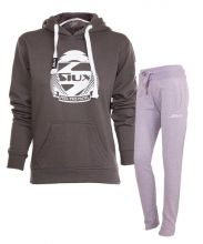 OUTFIT SIUX GREY WOMEN SWEATSHIRT AND GREY SWEATPANTS