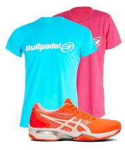 PACK ASICS GEL LIMA PADEL 2 ET T-SHIRTS BULLPADEL