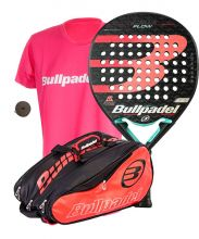 PACK BULLPADEL FLOW 2020 + PALETERO BULLPADEL BPP + CAMISETA + OVER