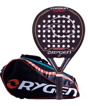 PACK ORYGEN CARBON EDITION JUNIOR AND ORYGEN BEGINNING BLACK ORANGE PADEL RACKET BAG