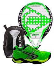 PACK DUNLOP HOT SHOT EXTREME, SIUX BACKPACK AND SOFTEE PADEL SHOES