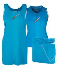 PACK VESTIDO VARLION MD13S04 TURQUESA, FALDA VARLION AZUL Y POLO VARLION TURQUESA