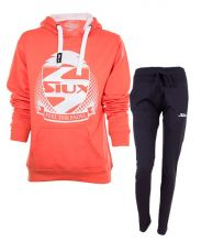 OUTFIT SIUX CORAL WOMEN SWEATSHIRT AND NAVY BLUE SWEATPANTS