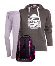 PACK SIUX BACKPACK, SWEATPANTS AND BELICE GREY SWEATSHIRT