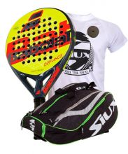 PACK BABOLAT DEFIANCE AND SIUX MASTERCOMBI GREEN PADEL RACKET BAG