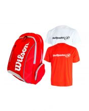PACK MOCHILA WILSON ADVANTAGE II Y CAMISETAS BULLPADEL