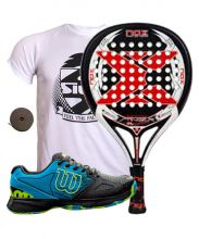 PACK NOX STINGER 21 AND WILSON DEVO PADEL SHOES