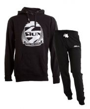 SIUX OUTFIT PREMIUM BLACK SWEATSHIRT AND FURTIVE BLACK SWEATPANTS