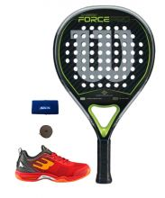 WILSON CARBON FORCE PRO PACK AND BULLPADEL BEWER SNEAKERS