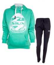 SIUX WOMEN OUTFIT BELICE TURQUOISE SWEATSHIRT AND BANDIT NAVY BLUE SWEATPANTS
